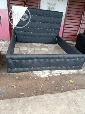 Leather Bed Freme 6 By 6   Furniture for sale in Lagos State, Ikeja