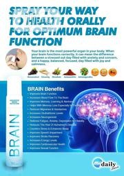 Oral Herbal Brain Spray Improves Brain Function And Be Active All Day | Vitamins & Supplements for sale in Lagos State, Victoria Island