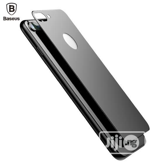 Aseus iPhone7 Plus 3D Silk-Screen Back Glass Film Black | Accessories for Mobile Phones & Tablets for sale in Ikeja, Lagos State, Nigeria