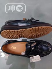 Zara Chunky Sole Original Green Leather Loafers | Shoes for sale in Lagos State, Agboyi/Ketu