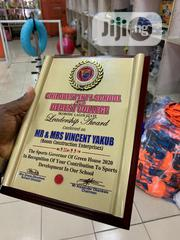 Wooden Award Plaque With Print | Arts & Crafts for sale in Lagos State, Maryland