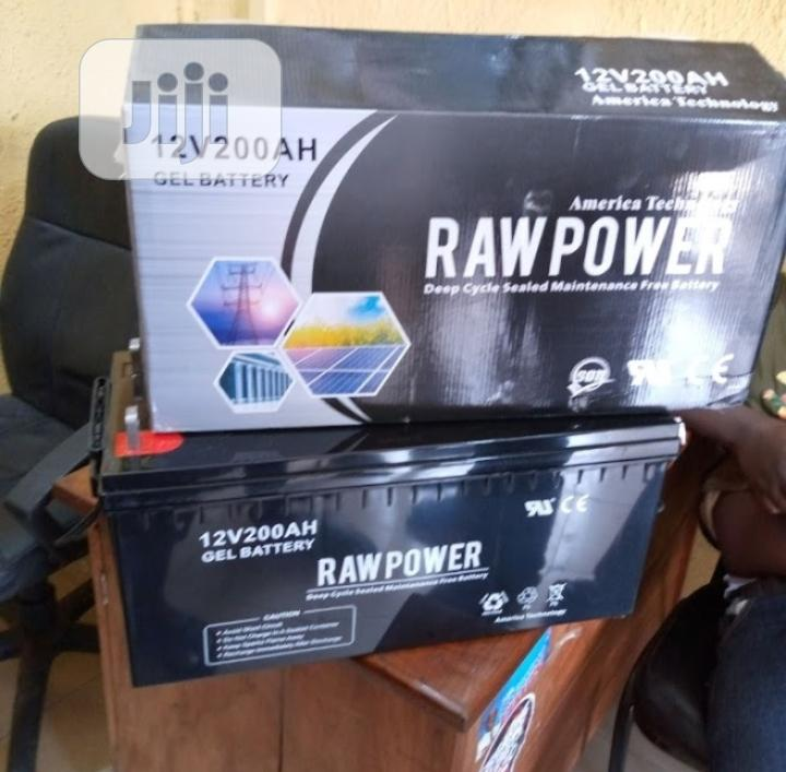 12v 200ah Raw Power Battery Available