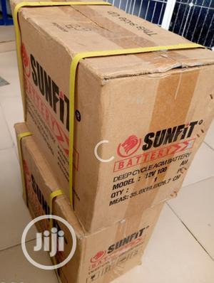 12v 100ah Sunfit Battery   Solar Energy for sale in Lagos State, Ojo