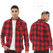 Jack Jones Checked Long Sleeve Shirt - Black/Red | Clothing for sale in Lagos State, Ikeja