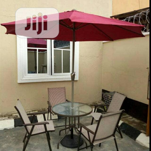 Guard Chair Umbrella And Table