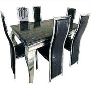 Brand New Imported Six Seaters Quality Marble Dining Set With Chair's | Furniture for sale in Lagos State, Yaba