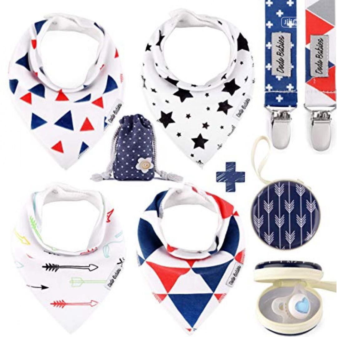 Archive: Baby Bib And Pacifier Holder Set
