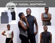 Armless Cotton Heather Shirts. | Clothing for sale in Lagos State, Surulere