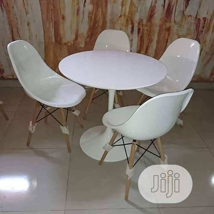 Impoted Round Dining Table Red By 4   Furniture for sale in Ojo, Lagos State, Nigeria
