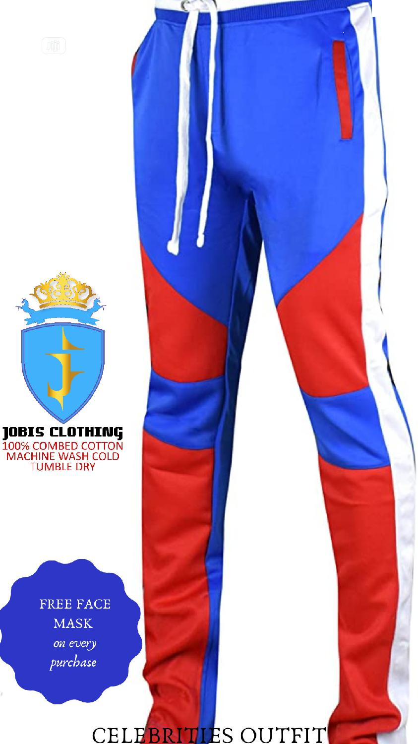 Blue and Red TRACKPANT Oufit