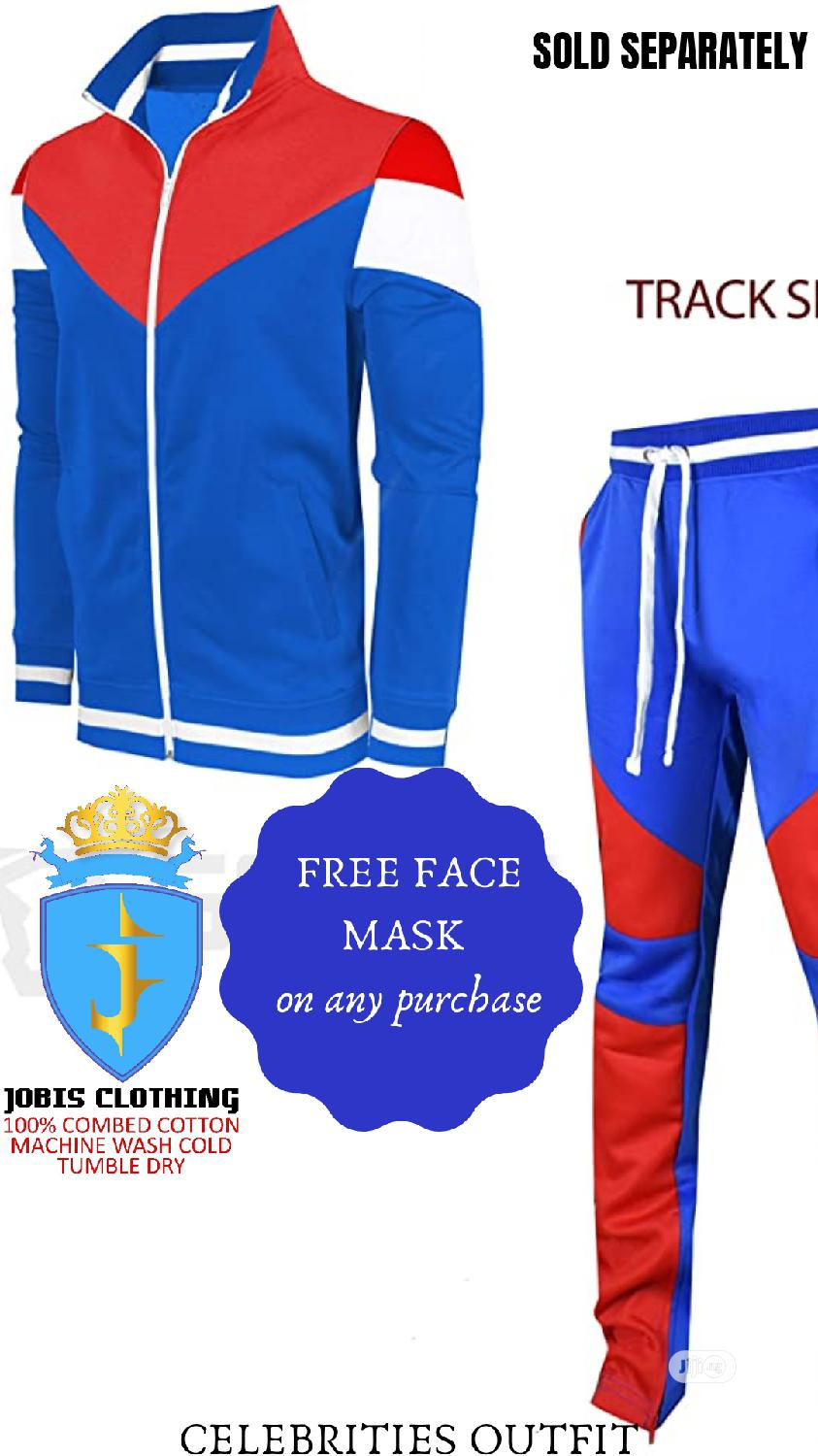 Blue and Red TRACKPANT Oufit | Clothing for sale in Victoria Island, Lagos State, Nigeria