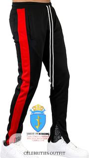 Black and Red Stripe TRACKPANT Outfit | Clothing for sale in Lagos State, Victoria Island