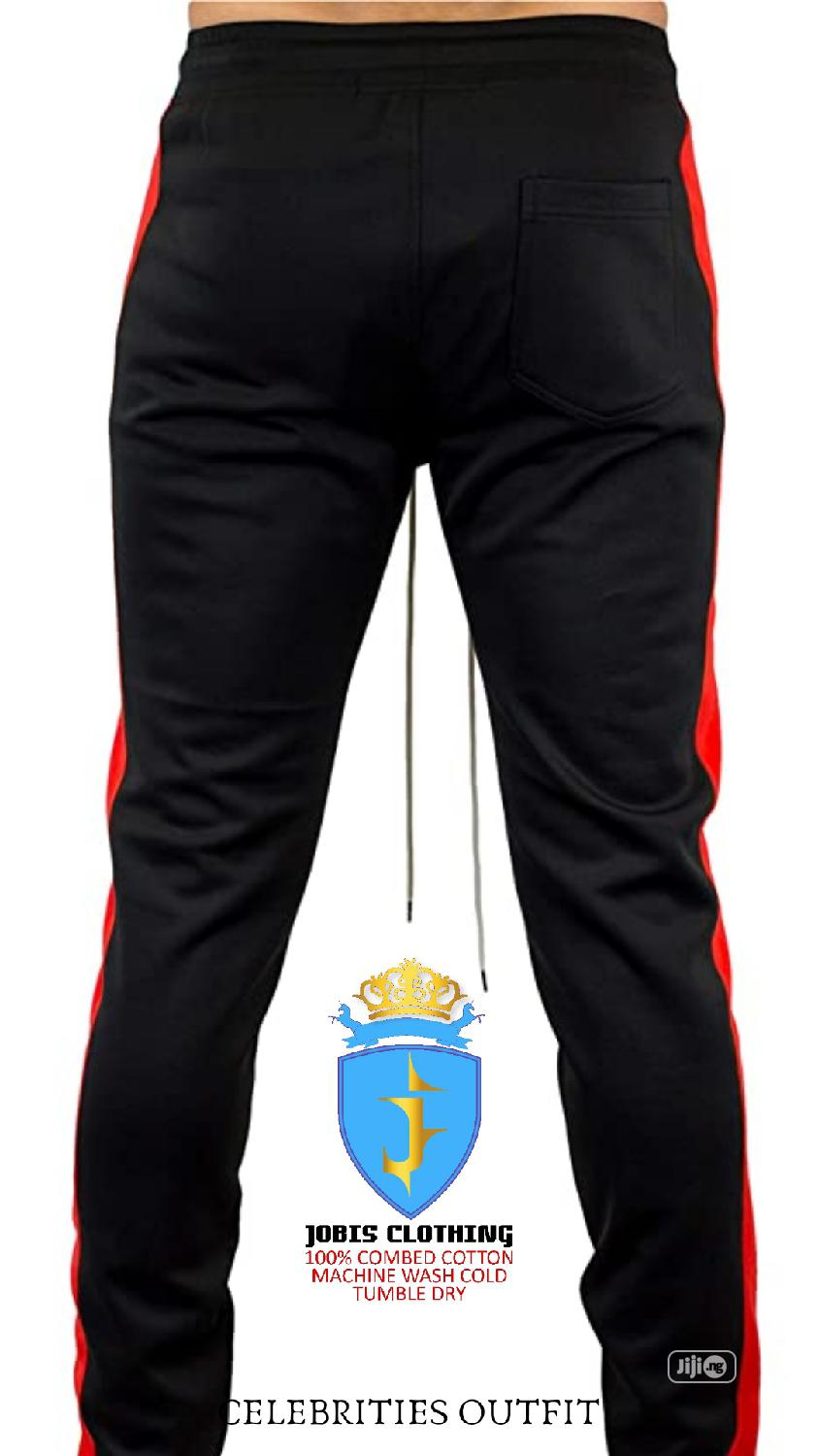 Black and Red Stripe TRACKPANT Outfit   Clothing for sale in Victoria Island, Lagos State, Nigeria