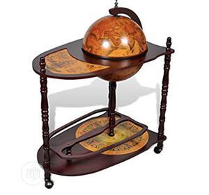 Vintage Wooden Globe Wine Rack Bar Cabinet Trolley | Furniture for sale in Lagos State, Lekki