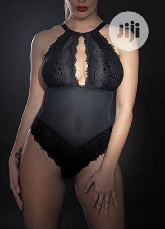 Archive: Body Suit In Navy Blue