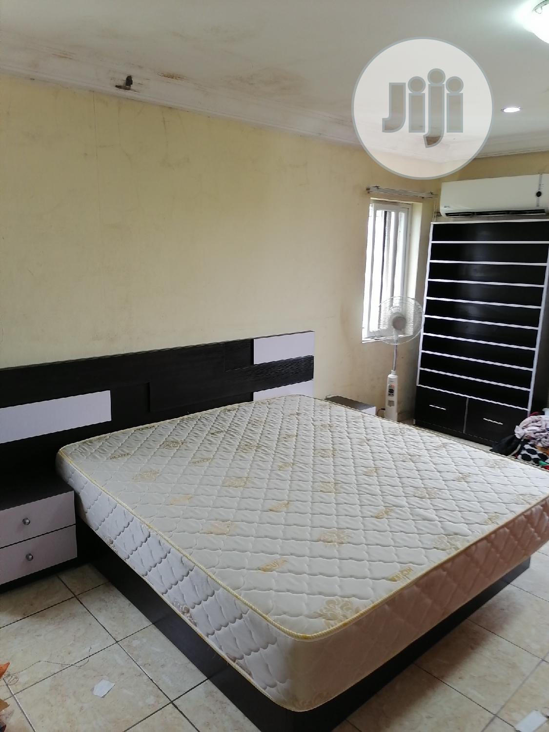 Luxury Bedframe + Tall Shoe Rack + Mouka Mattress | Furniture for sale in Alimosho, Lagos State, Nigeria