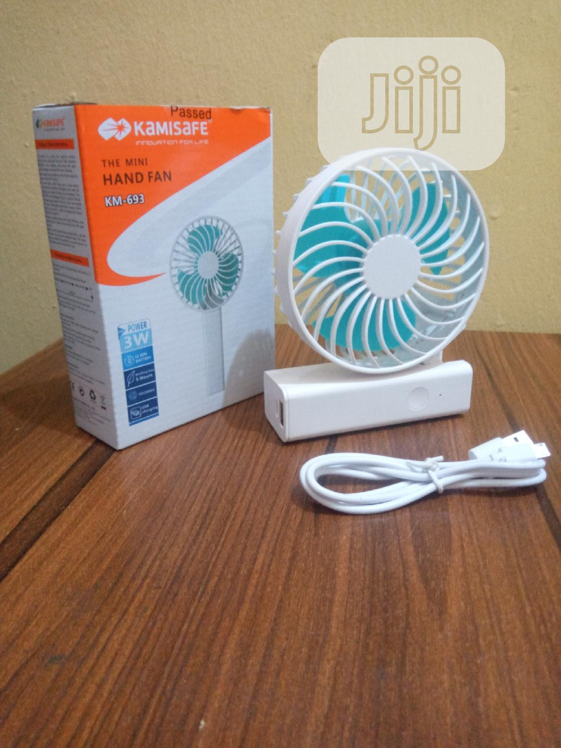 Kamisafe Mini Rechargable Hand Fan | Home Accessories for sale in Ikotun/Igando, Lagos State, Nigeria