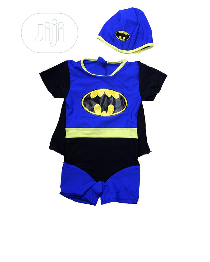 Fly Style Swimming Suit With Cap - Red, Blue ,Black Yellow | Children's Clothing for sale in Ojota, Lagos State, Nigeria