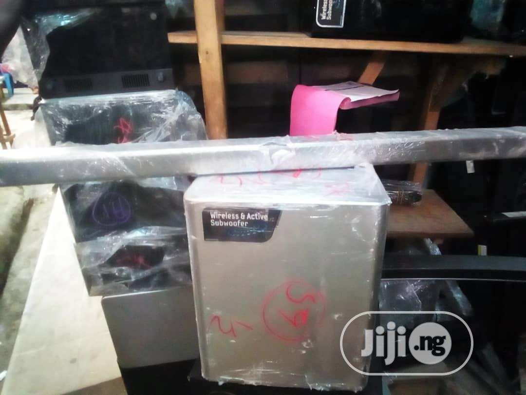 Powerful Samsung Sound Bar With Wireless Subwoofer And Bluetooth®   Audio & Music Equipment for sale in Lugbe District, Abuja (FCT) State, Nigeria