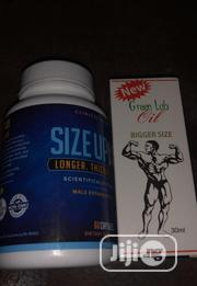 Size Up And Green Lab Oil | Sexual Wellness for sale in Lagos State, Ikeja