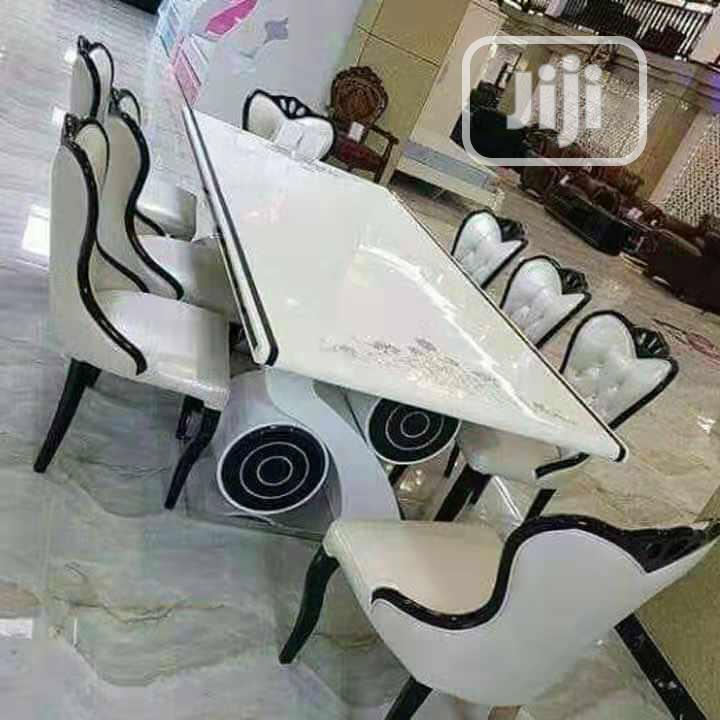 High Grade White Dining Table Set