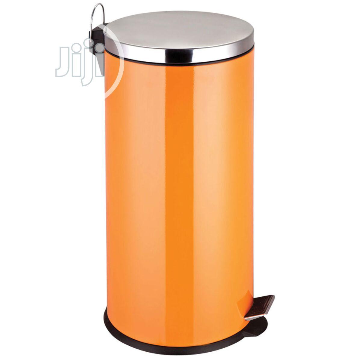 Premier Housewares 30L Stainless Steel Pedal Bin - Orange