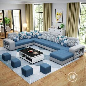 Modern U Shape Sofas With Center Table 4 Ottoman | Furniture for sale in Lagos State, Ibeju