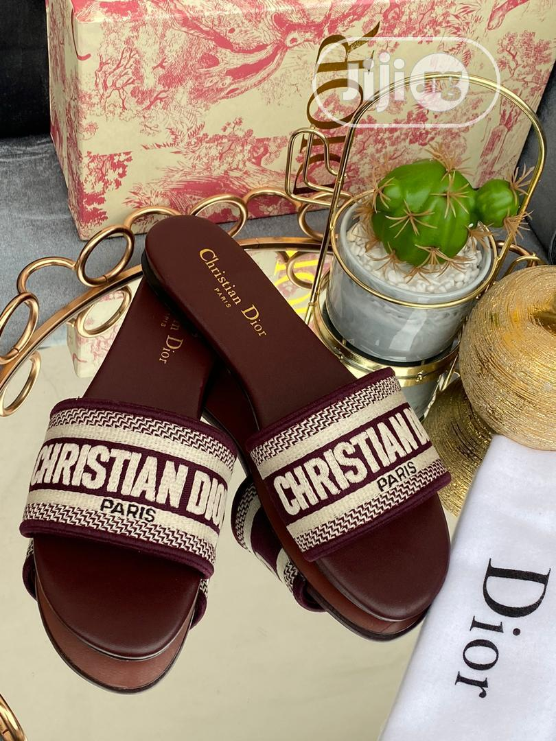 Christian Dior Slippers Ladies | Shoes for sale in Isolo, Lagos State, Nigeria