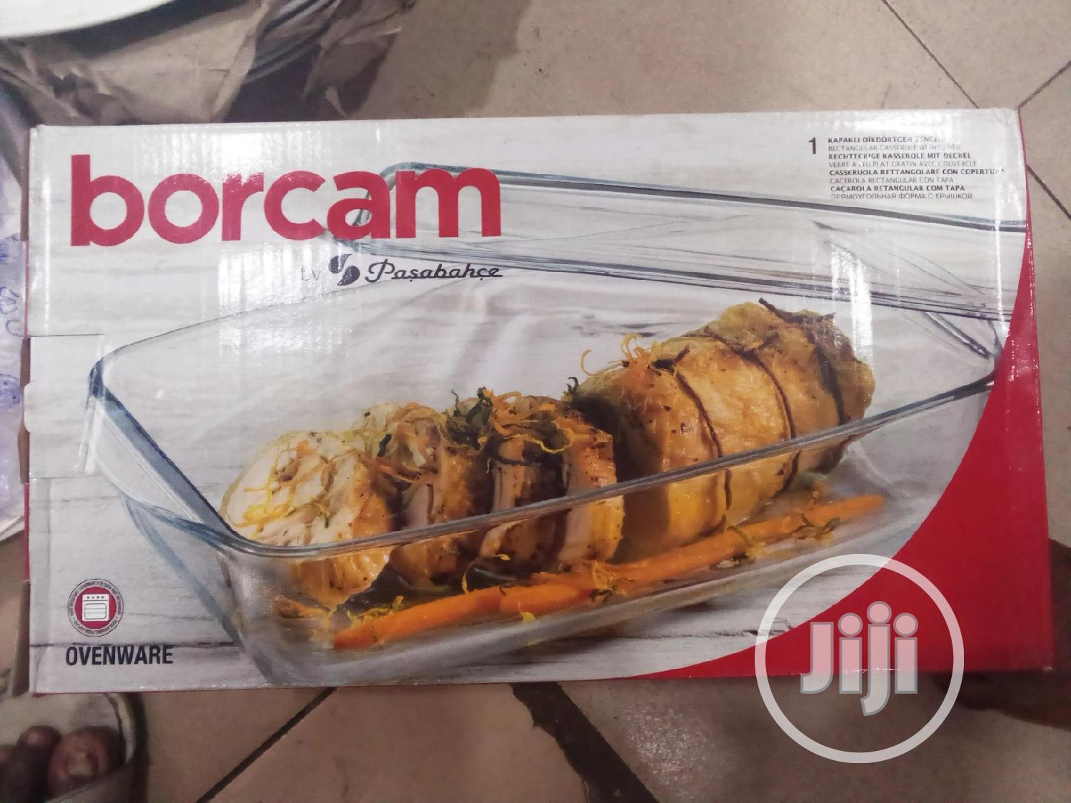 Borcom Glass Over Dish With Cover | Kitchen & Dining for sale in Lagos Island, Lagos State, Nigeria