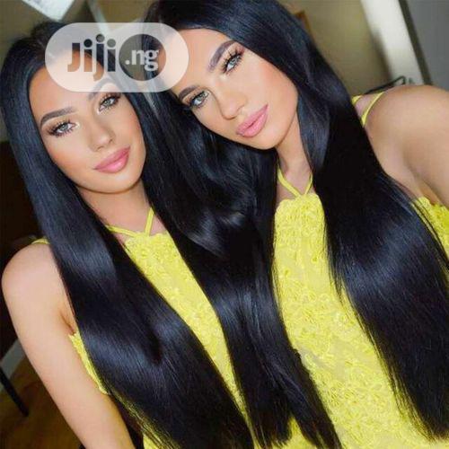 Long Straight Natural Soft Human Hair Wig