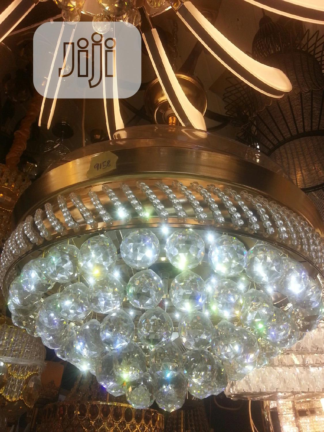 Crystal Chandelier Fan