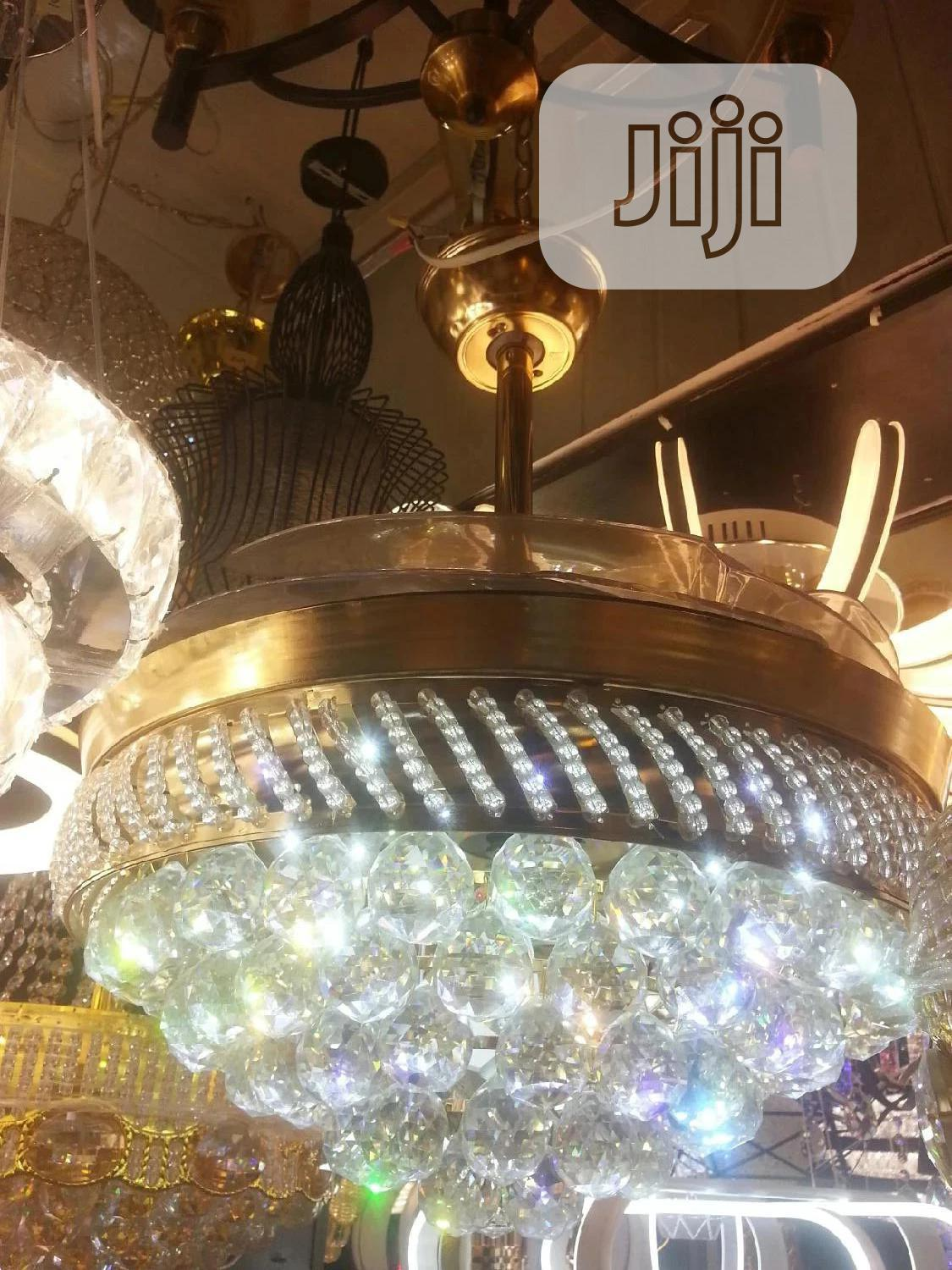 Crystal Chandelier Fan | Home Accessories for sale in Ojo, Lagos State, Nigeria