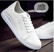 Smart Fashion Breathable Men Sneakers/Canvas - White   Shoes for sale in Lagos State, Magodo