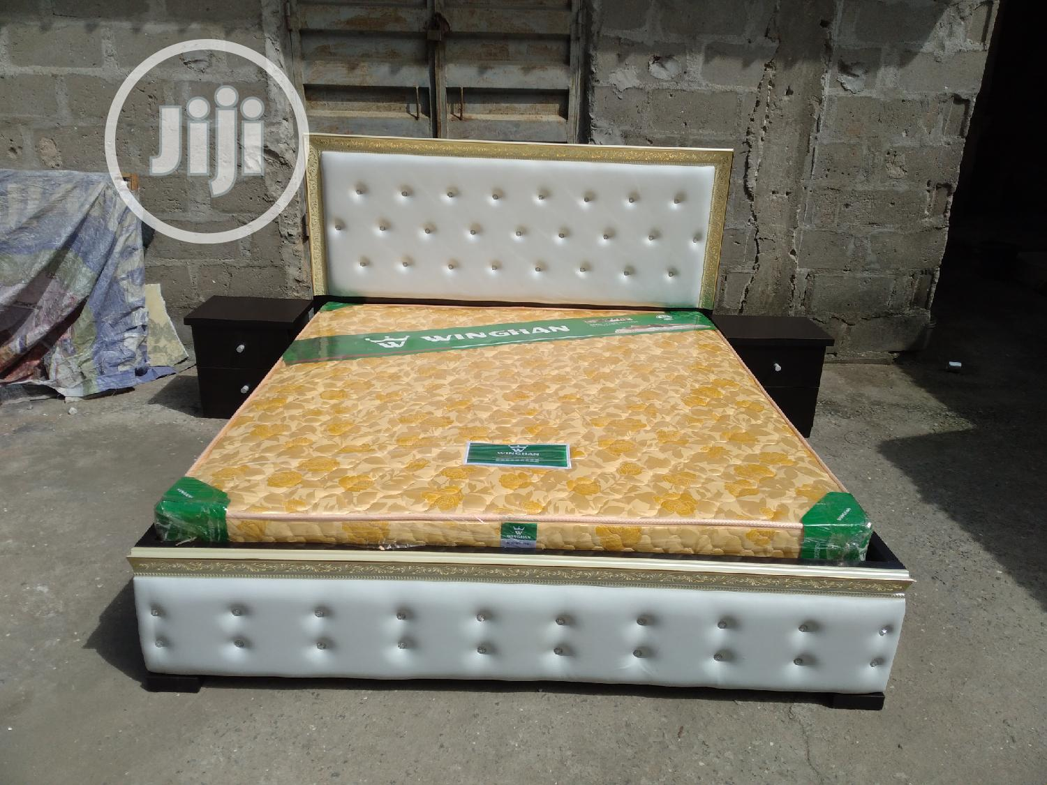 (6×6) High Quality Bedframe With Orthopedic Spring Mattress