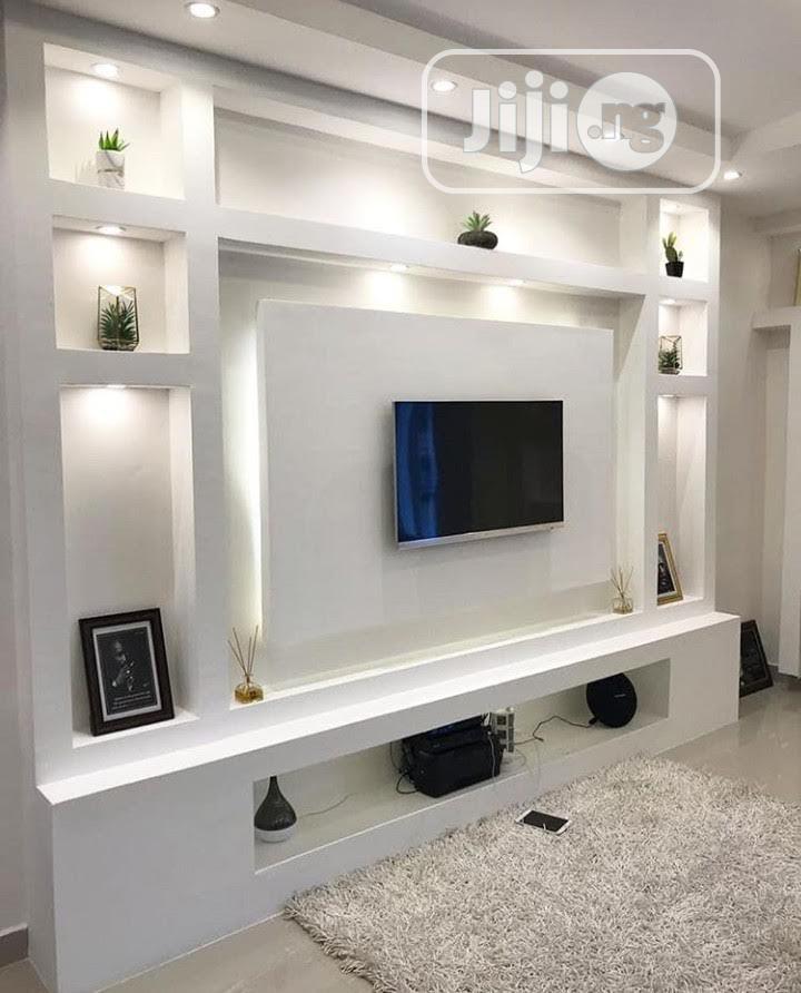 Gypsum Tv Unit Console In Gwarinpa Furniture Stressreliver Service Jiji Ng