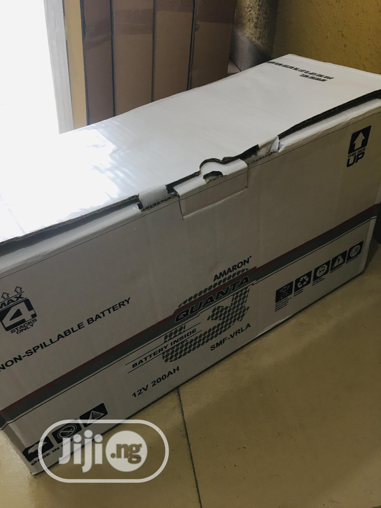 200ah 12v Quanta Amaron Battery Available With 1yr Warranty   Solar Energy for sale in Ojo, Lagos State, Nigeria