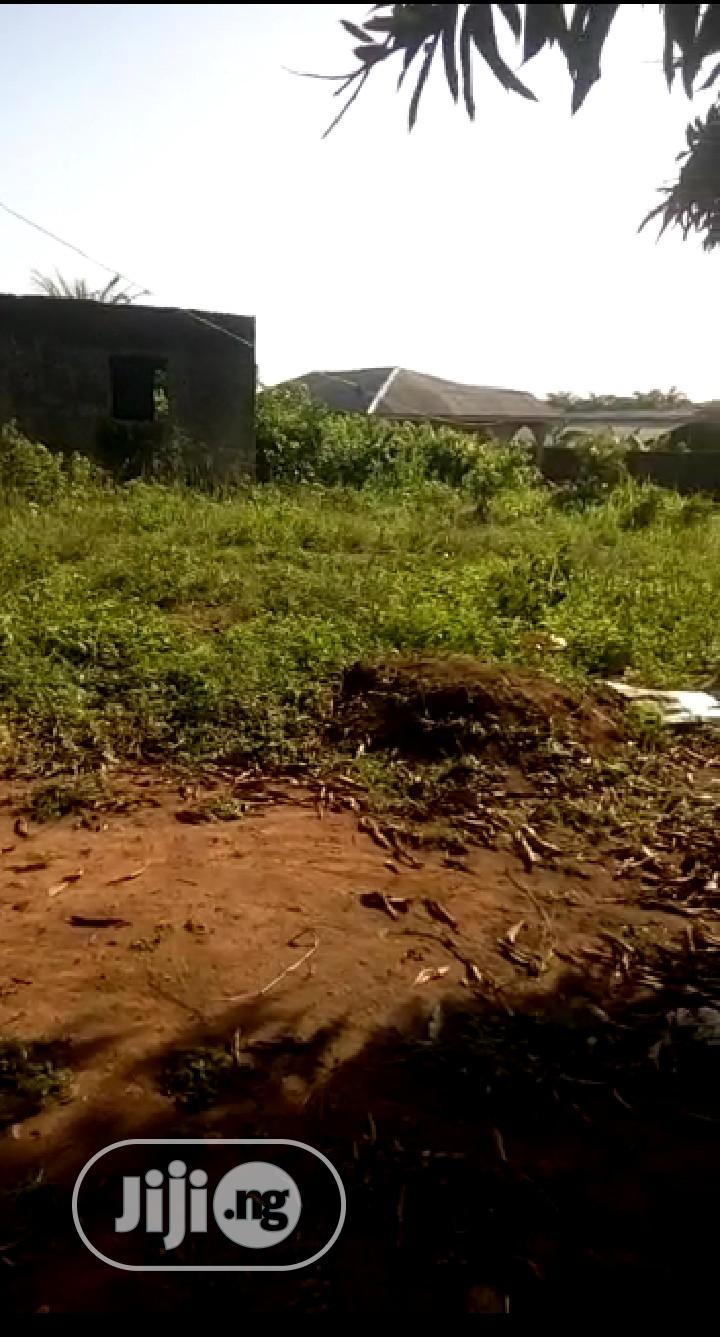Archive: 1/2 Plot of Land With 3 Bedrooms Flat Uncompleted Building.