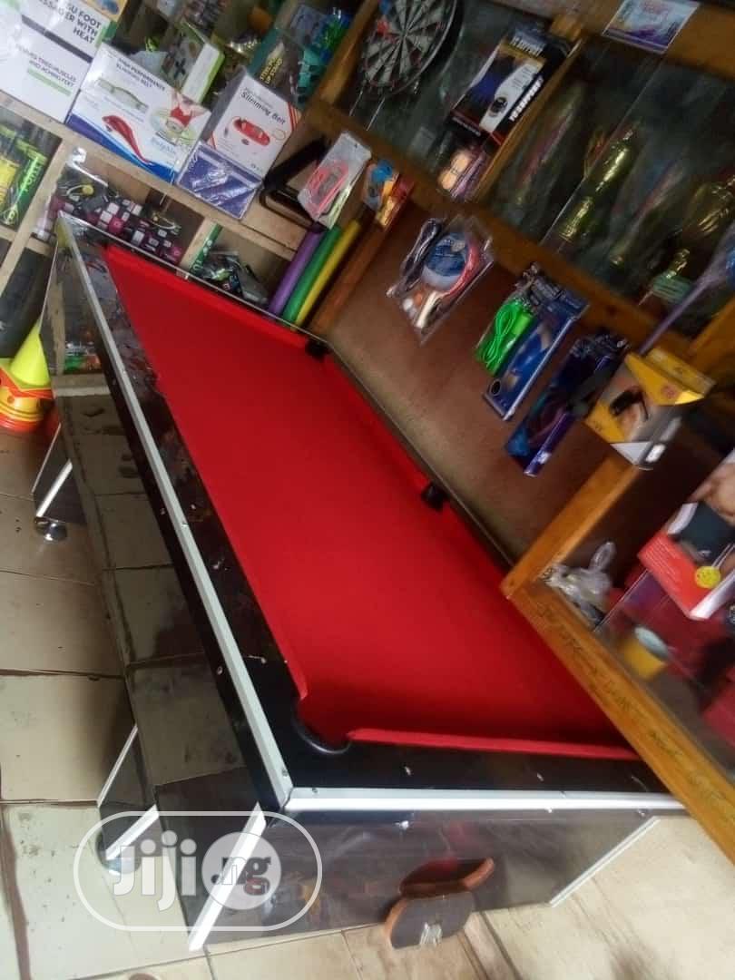 Red Felt Snooker Table