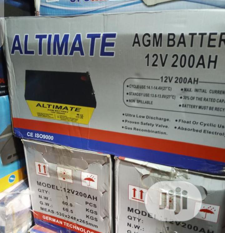 200ahs 12volt ALIMATE Battery Available With 1yrs Warranty