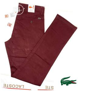 Classic Lacoste Men Chino's Trousers   Clothing for sale in Lagos State, Lagos Island (Eko)