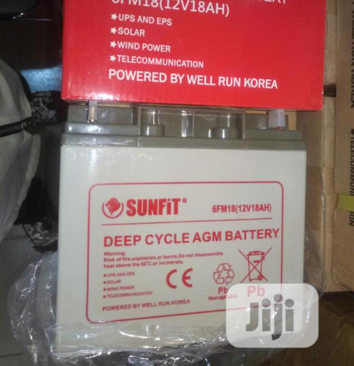12volt 18ahs Sunfit Battery