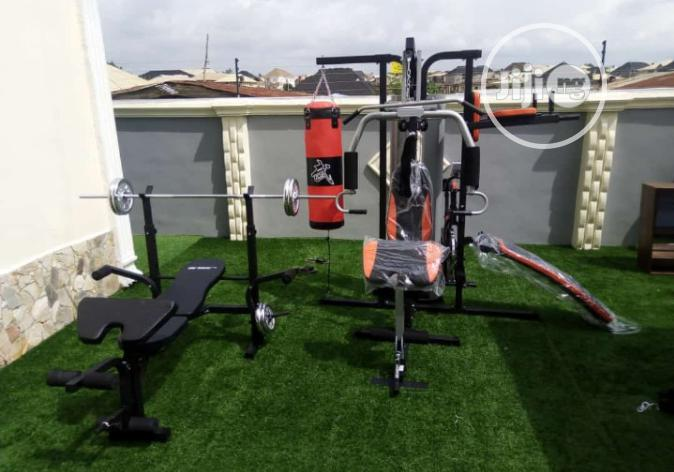 3station Gym Commercial And Weight Lifting Bench With 50kg Dumbbell