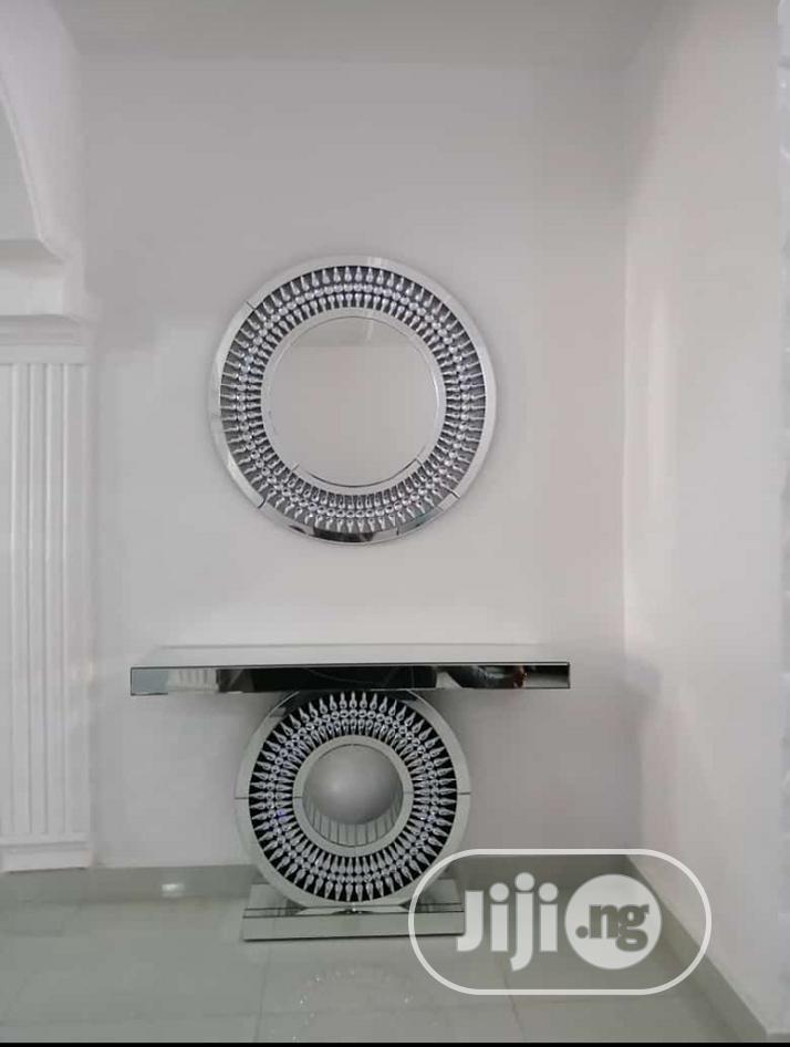 Silver Mirror Console