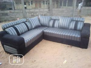 L Shap Sofa Chiar With Original Fabric   Furniture for sale in Lagos State, Ojo