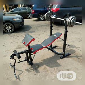 Bench Press With 50kg Barbell   Sports Equipment for sale in Lagos State, Lekki