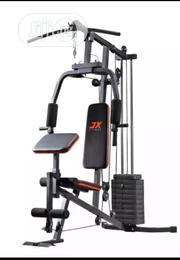 One Station Gym With 50KG Vinyl Weight Stack- Silver/ Black | Sports Equipment for sale in Lagos State, Ikeja