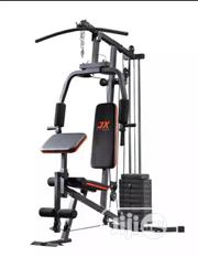 One Station Gym With 50KG Vinyl Weight Stack- Silver/ Black | Sports Equipment for sale in Lagos State, Ilupeju