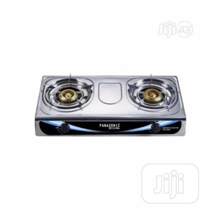 Double Burner Panasonic Stainless Gas Cooker