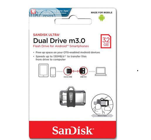 Sandisk 32GB Ultra OTG Dual USB Flash Drive | Accessories for Mobile Phones & Tablets for sale in Ikeja, Lagos State, Nigeria