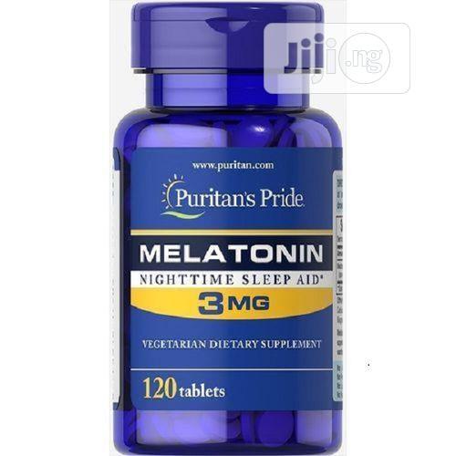 Puritan's Pride Melatonin Nighttime Sleep Aid-3mg by 120 Tablets